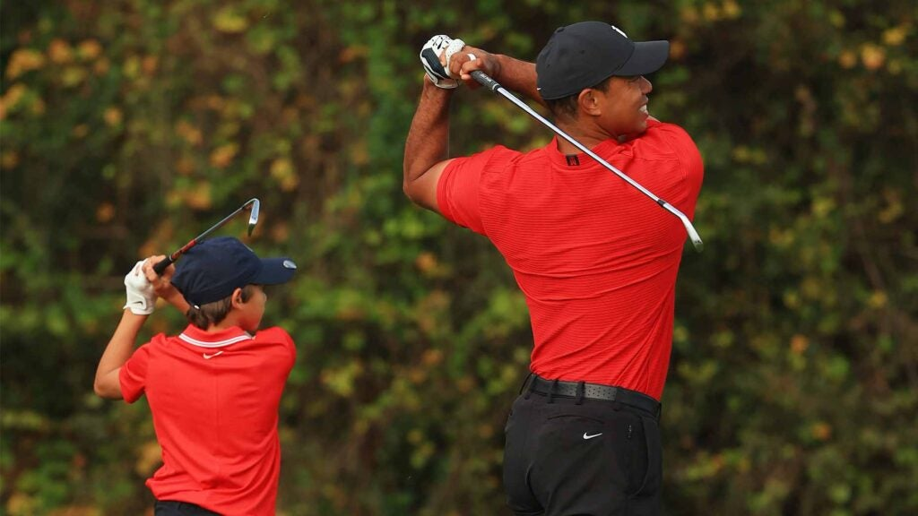 Tiger Charlie Woods swing club