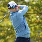 Zach Johnson swings during a tournament.