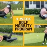 Hip mobility is key to a powerful golf swing.