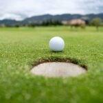 ball near hole on green