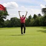 golfer celebrating