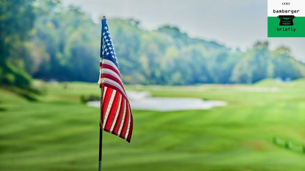 american flag on flagstick