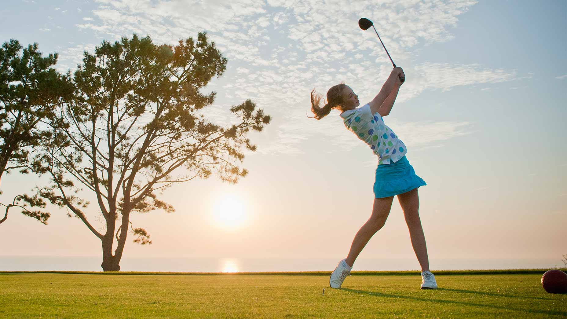 A good warmup helps you make a free, fluid swing.