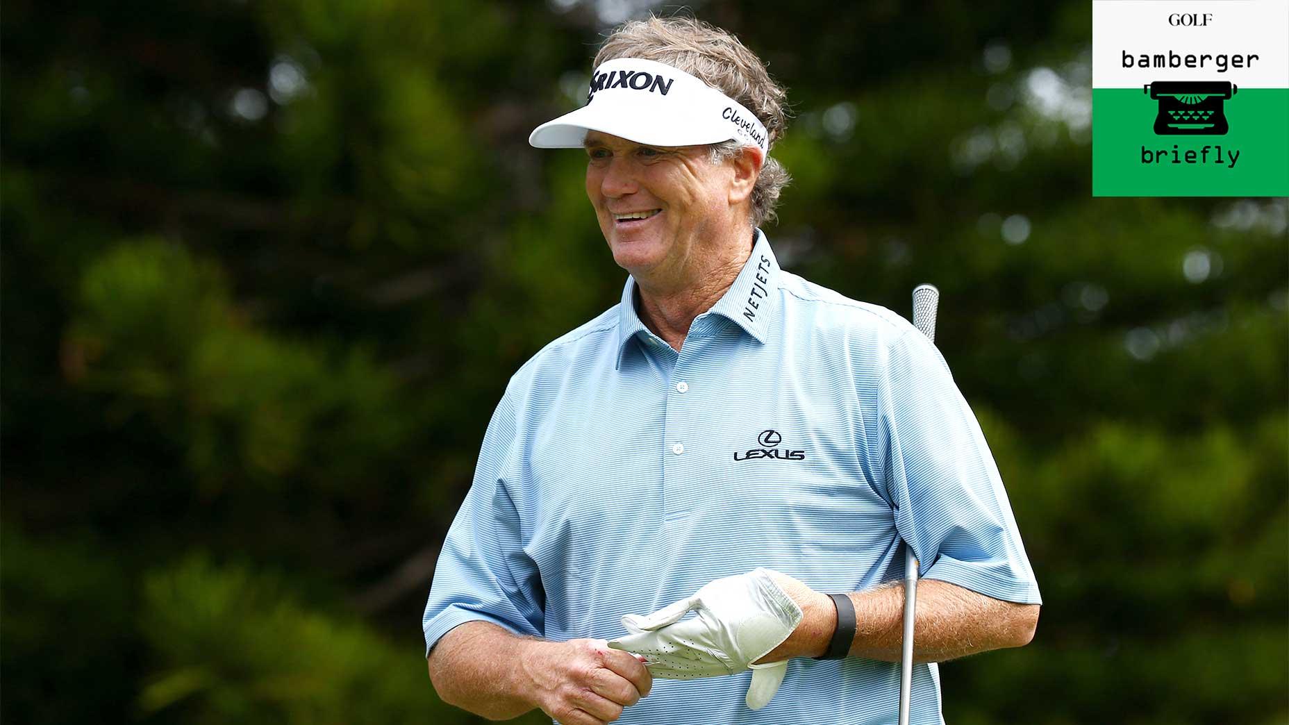 Peter Jacobsen smiles in 2016