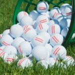 golf balls on the range