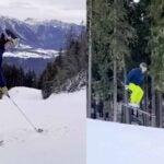 pro golfer skis