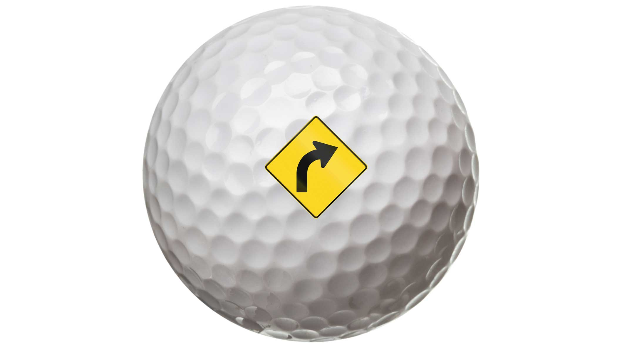 ball with road sign on it