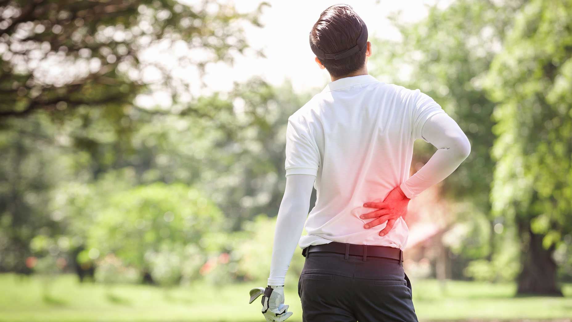 Lower back injuries are common among golfers.