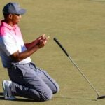 Tiger Woods dropped putter