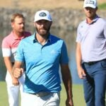 dustin johnson pumps fist