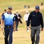 padraig harrington and phil mickelson walk