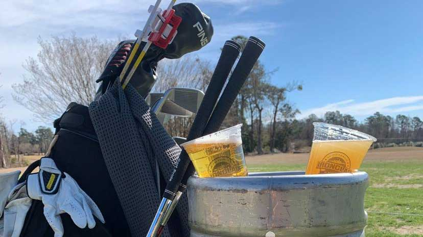 ironclad beer and golf clubs