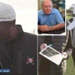 Jack Nicklaus surprises golfer Kevin Hall.