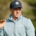 jordan spieth moves hand pebble beach
