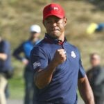 Tiger Woods at the Ryder Cup.
