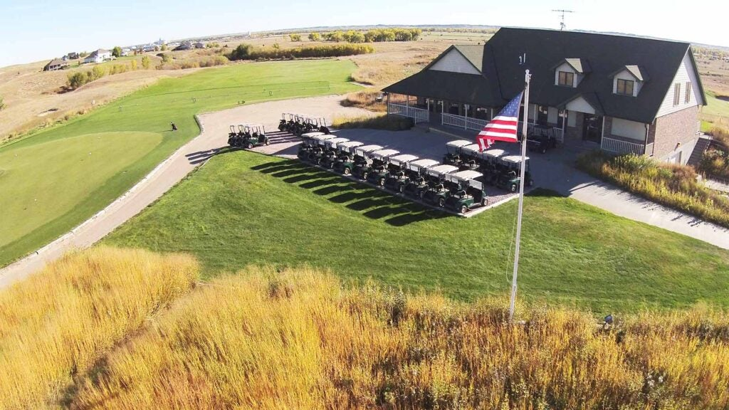Wild Horse Golf Club's clubhouse.
