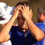 justin thomas with hands on his head