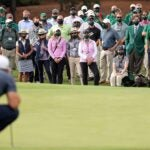 augusta national patrons masked