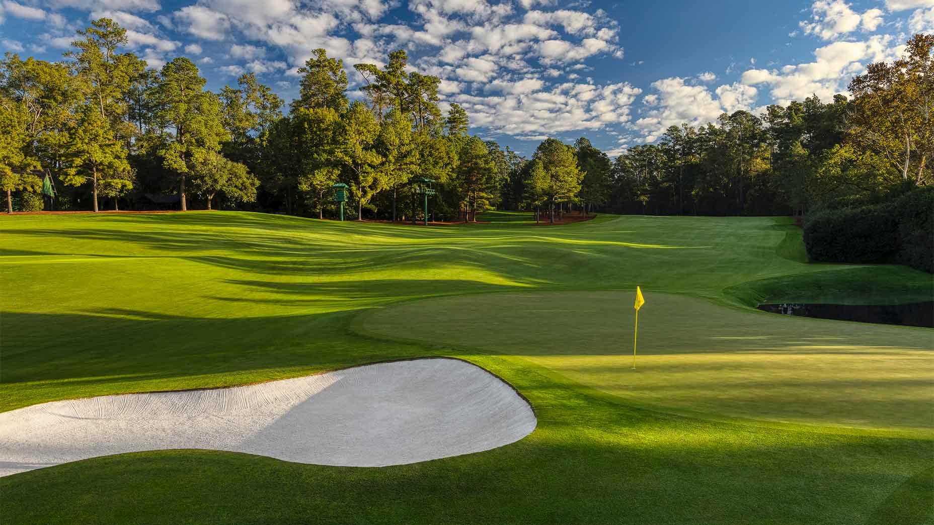 The 11th hole at Augusta National.
