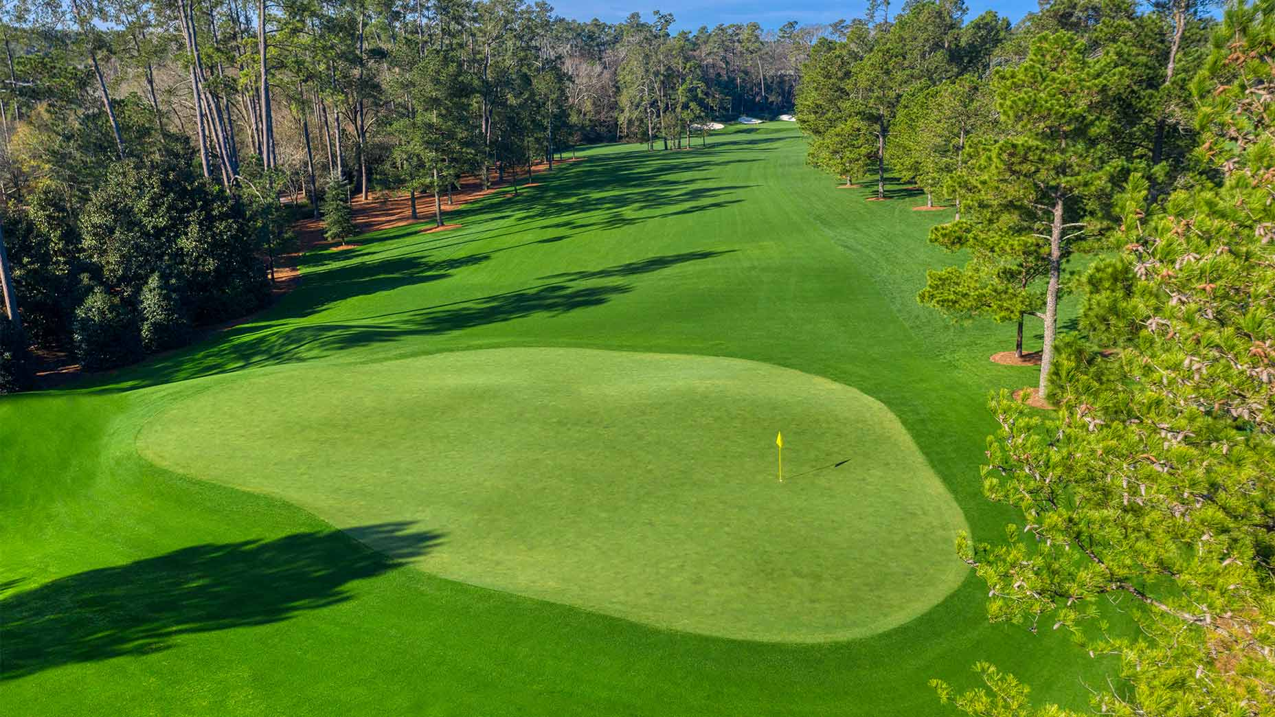 The par-4 14th hole at Augusta National.