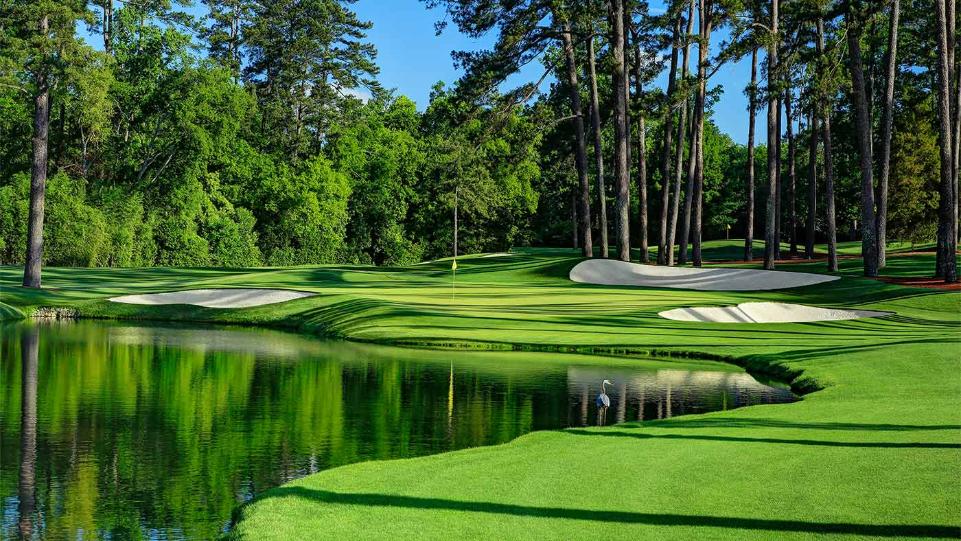The 16th at Augusta National.
