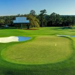 The 18th hole at Augusta National.