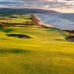 the 17th hole at cabot cliffs
