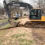 atch basins and new drainage pipes being installed at Overton Park.