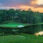 The 17th at FarmLinks Golf Club at Pursell Farms.