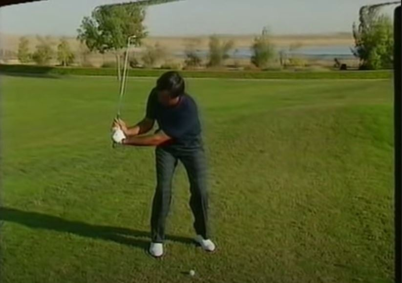 Seve Ballesteros explains how to hit a spinny flop shot, in 55 seconds