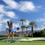 lexi thompson hits golf ball