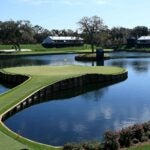The 17th hole at TPC Sawgrass' Stadium Course.