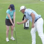 Lee Westwood giving a lesson