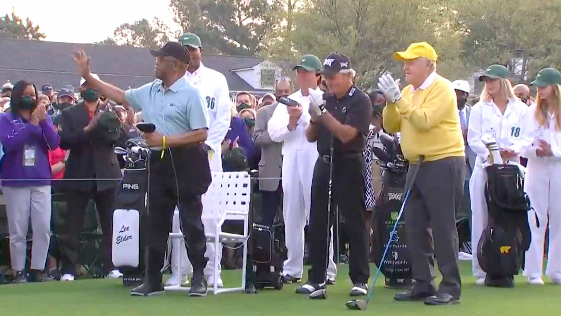 WATCH: Nicklaus, Player, Elder kick off Masters as ...