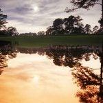 A pond at Augusta National Golf Club