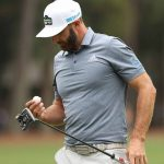 dustin johnson with putter