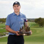 jordan spieth holds trophy