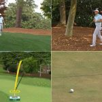 Jordan Spieth birdie from woods at Masters