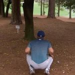 Jordan spieth plays a shot from the trees.