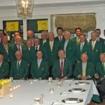 Masters winners at the champions dinner.
