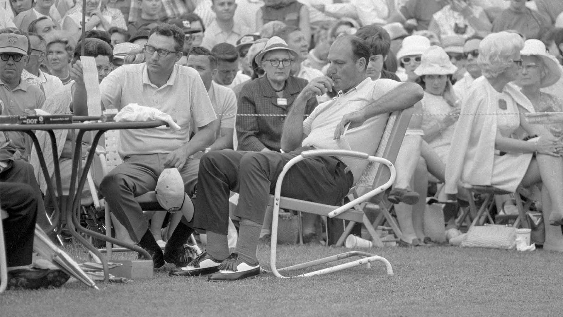 A stunned Roberto De Vicenzo after he signed an incorrect scorecard at the 1968 Masters.