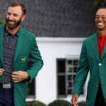 Tiger Woods and Dustin Johnson at Masters