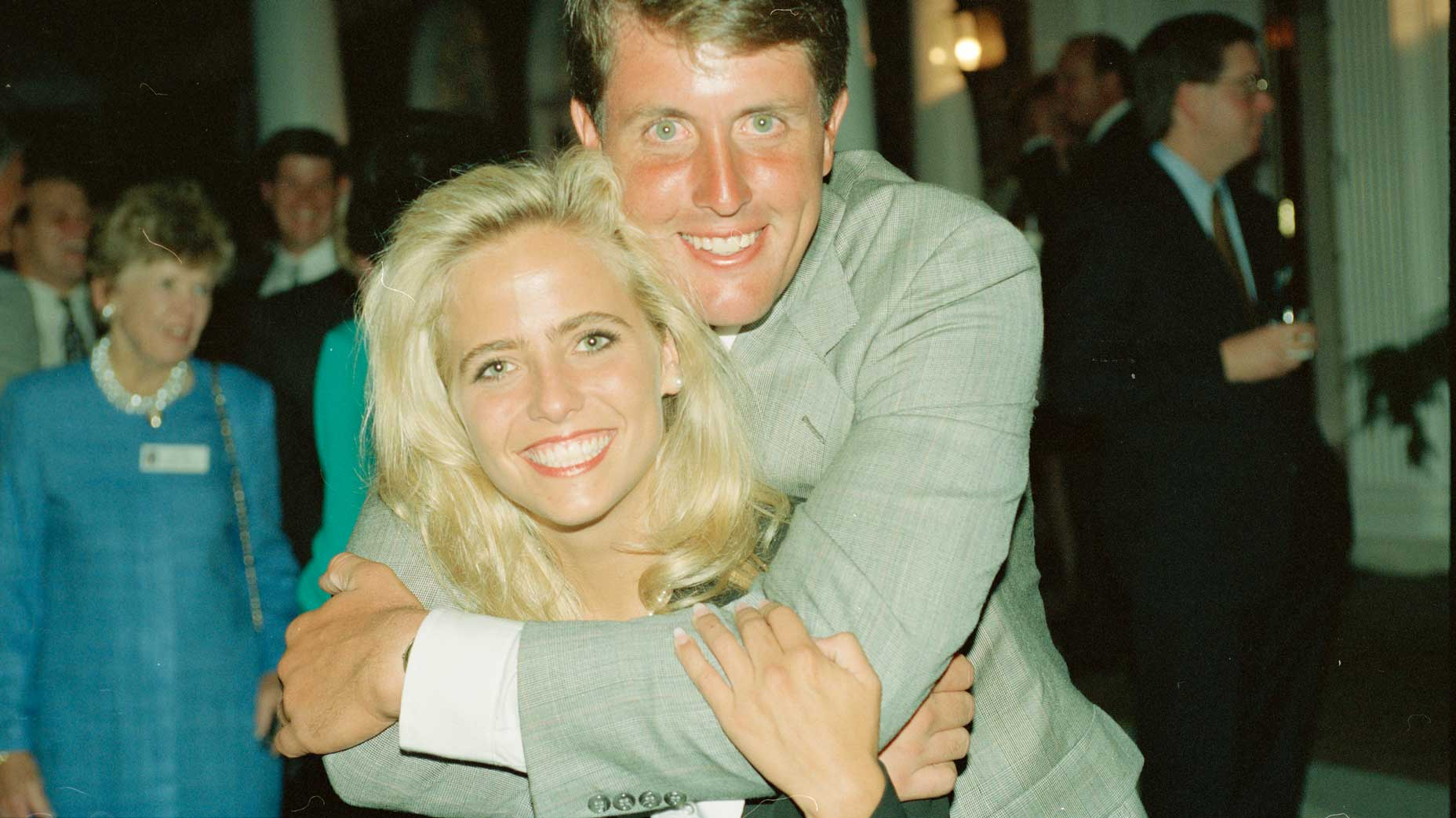 Amy and Phil Mickelson at the 1994 Presidents Cup.