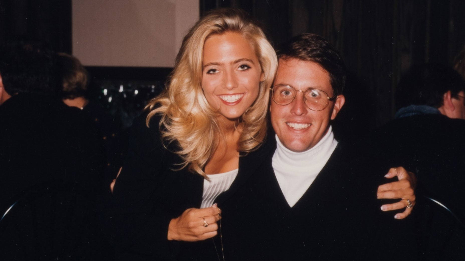 Amy and Phil Mickelson at the 1995 Ryder Cup.