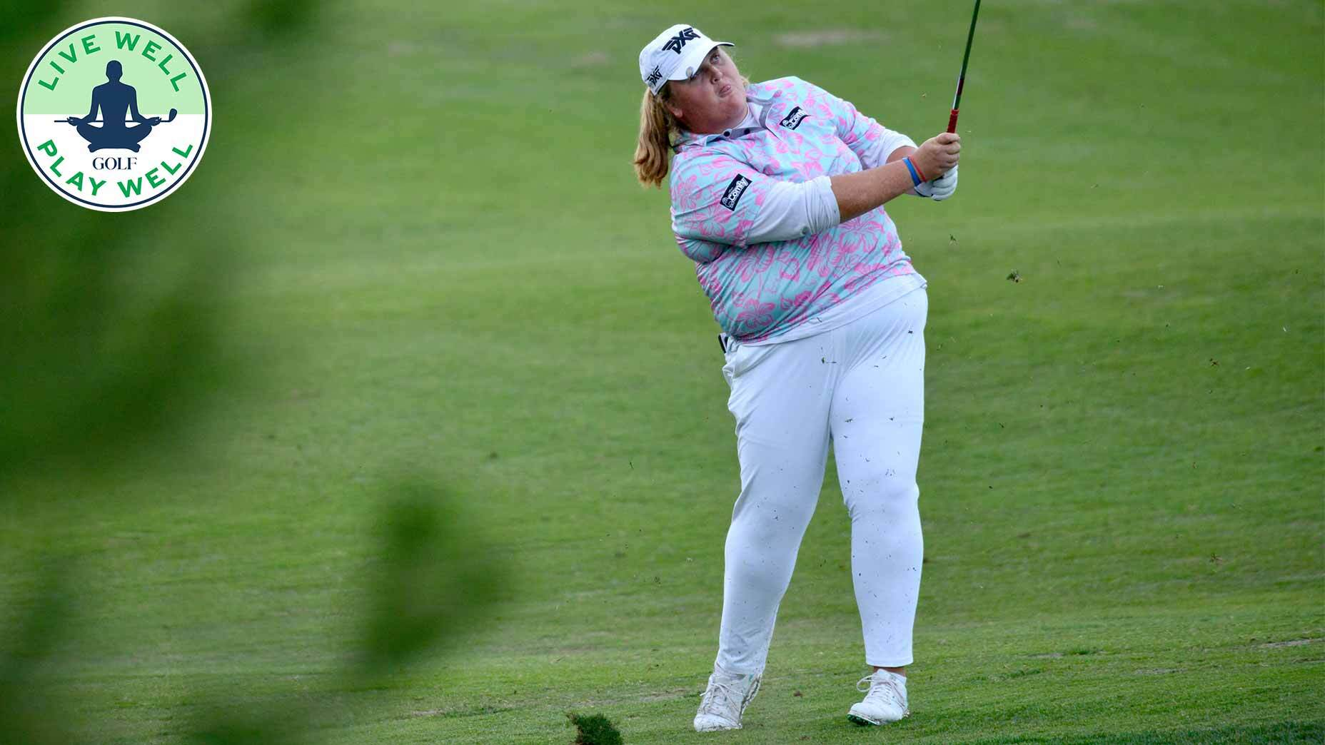 Haley Moore takes a swing