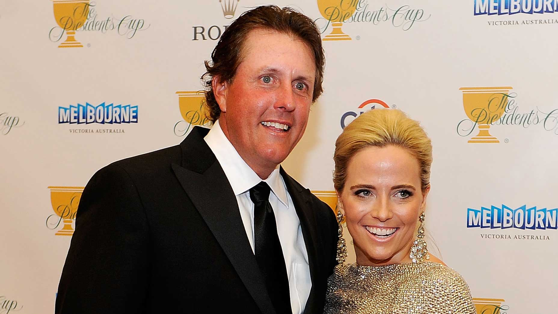 Amy and Phil Mickelson at the 2011 Presidents Cup.
