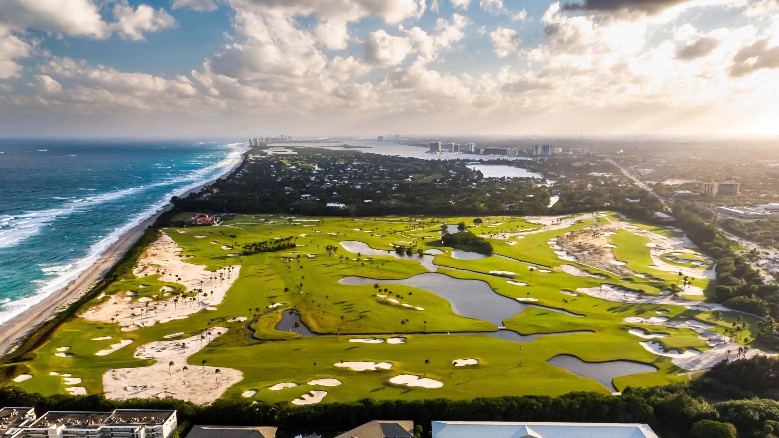 Aerial view of Seminole Golf Club