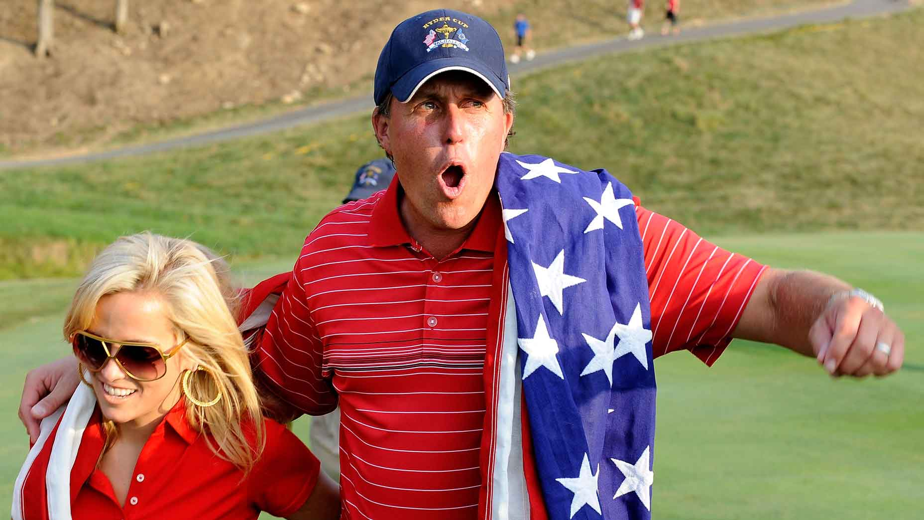 Amy and Phil Mickelson at the 2008 Ryder Cup.