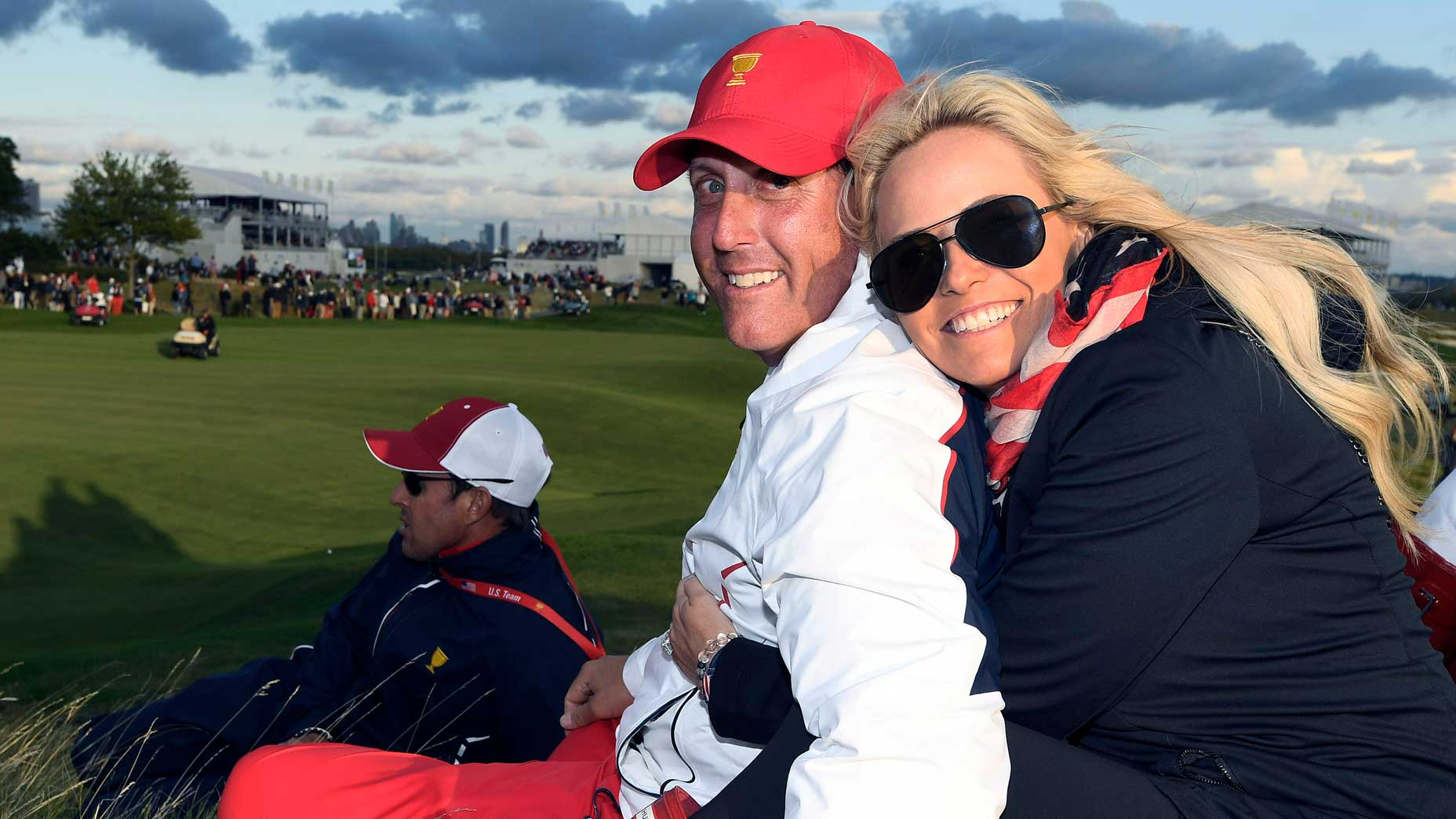 Amy and Phil Mickelson at the 2017 Presidents Cup.