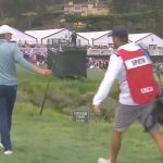 Jordan Spieth and Michael Greller at the 2019 U.S. Open at Pebble Beach.